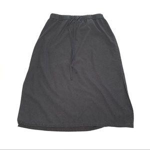 Eileen Fisher Drawstring Waist Slit Boho Skirt